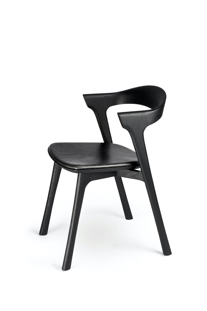 Oak Bok Black Dining Chair - Black Leather | Ethnicraft