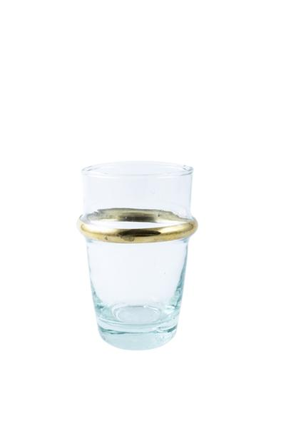 GOLD RIMMED ESPRESSO GLASS
