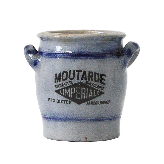 ANTIQUE BELGIAN MUSTARD JAR #1