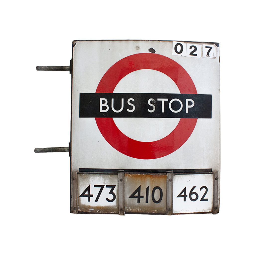 Antique London Bus Stop Sign