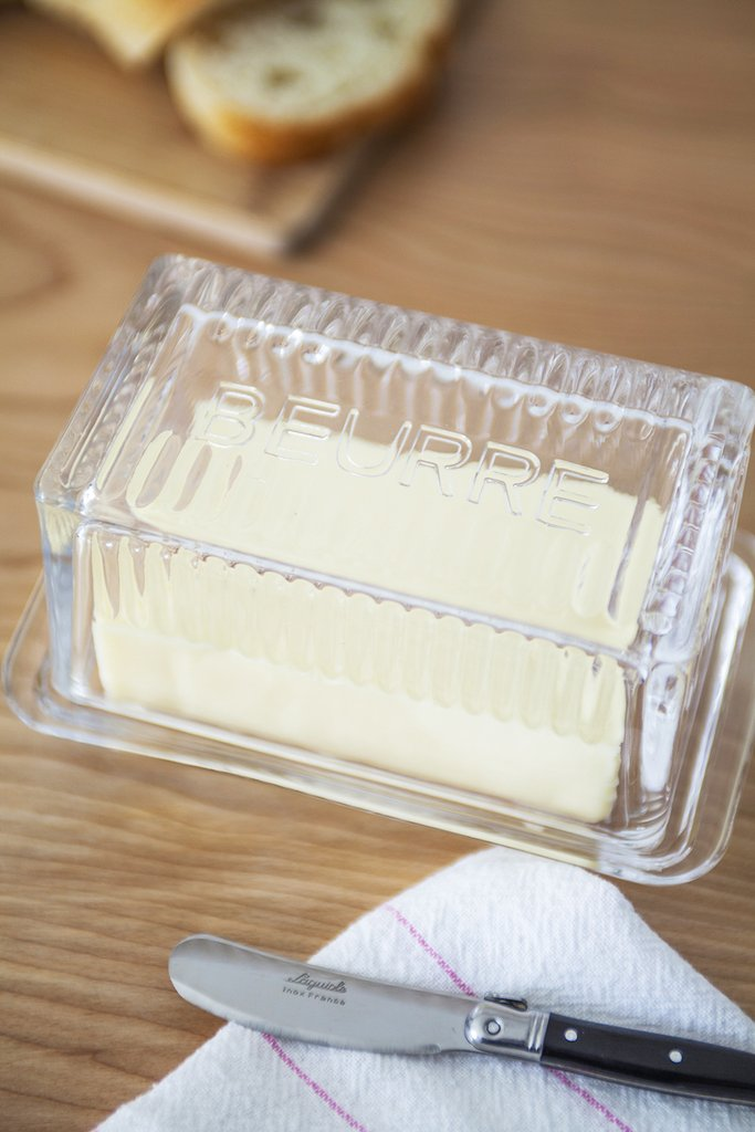 Glass 'Beurre' Butter Dish