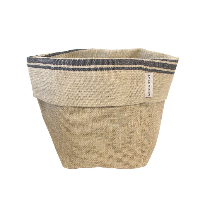 Black Linen Bread Basket