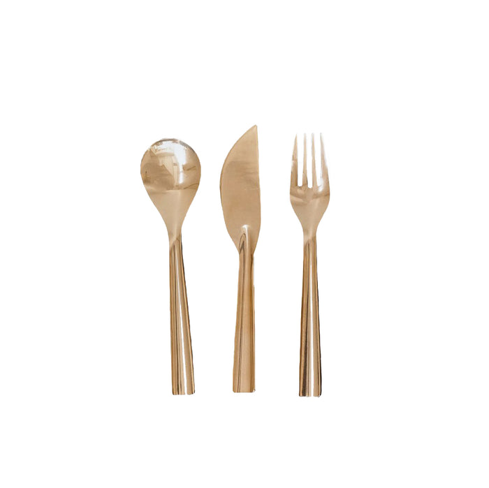 BRASS PLACE SETTING (SET OF 3)