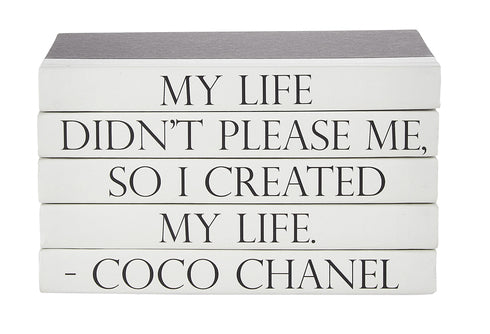 COCO CHANEL 5 VOLUME QUOTE BOOK STACK