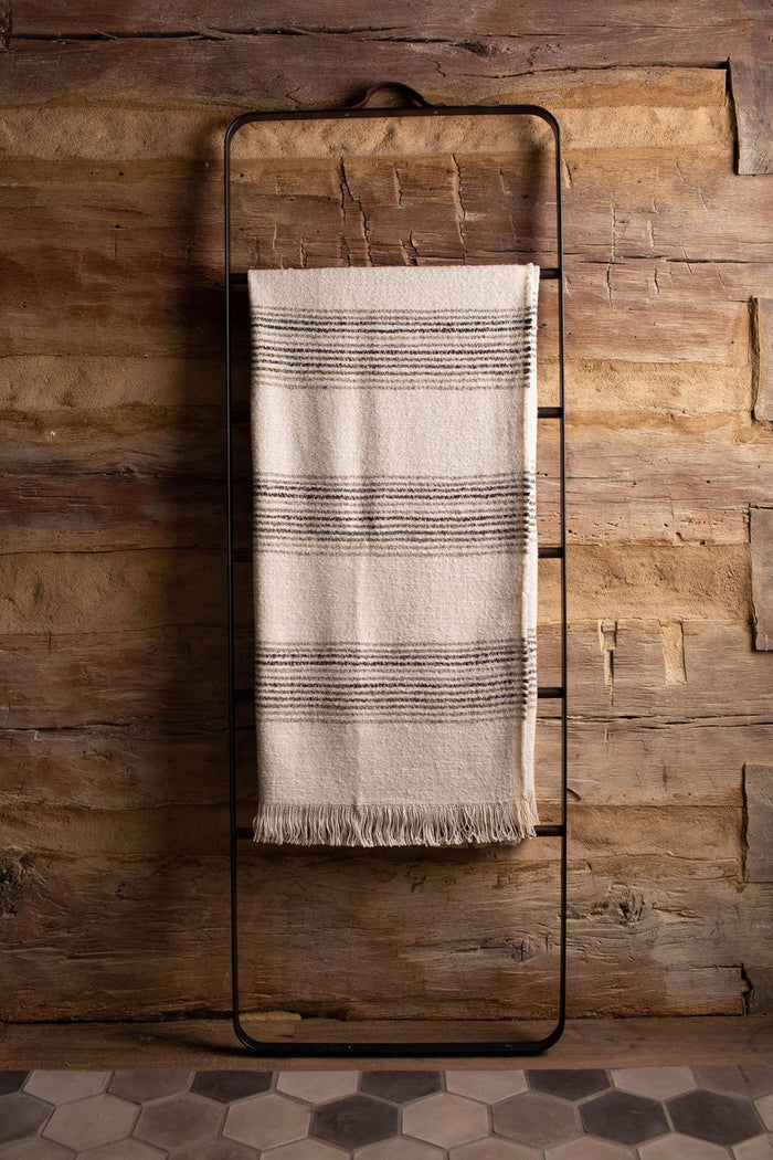 DALI THROW BLANKET - NATURAL & MINK