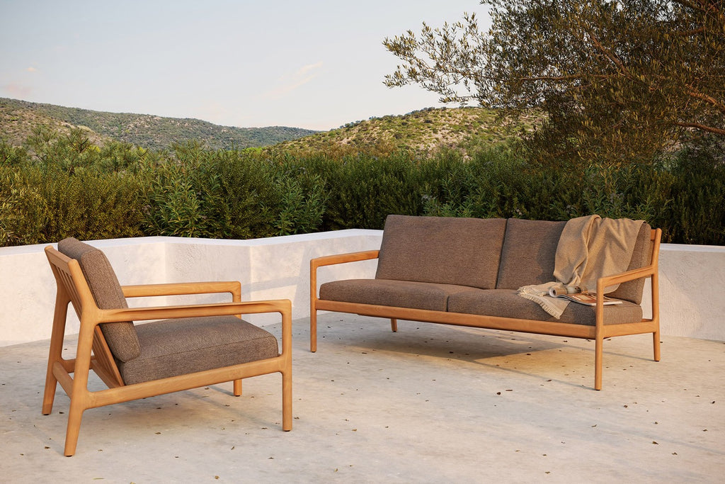 Teak Jack Outdoor Loveseat - Mocha