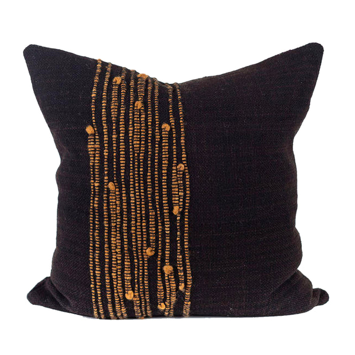 Kelgwo Pillow - Black/Gold Stripes