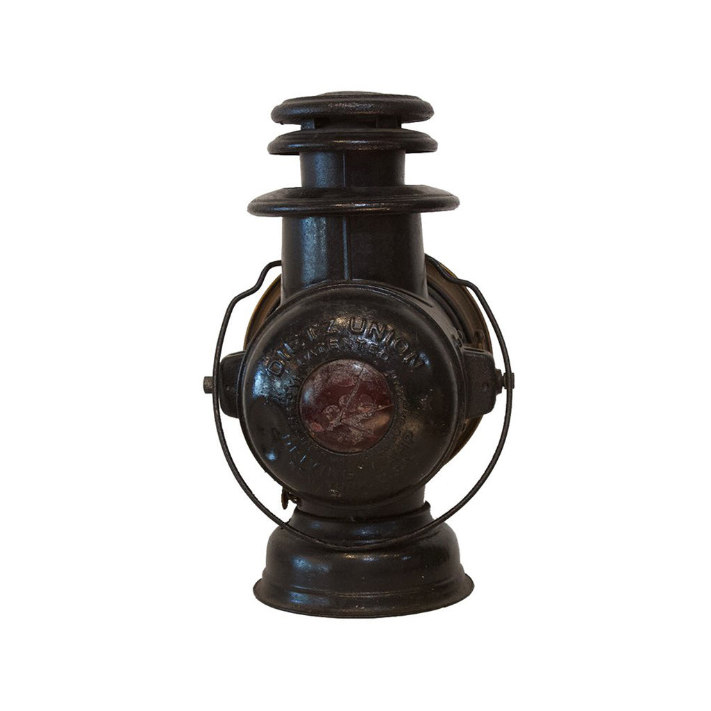Antique Black Train Lantern