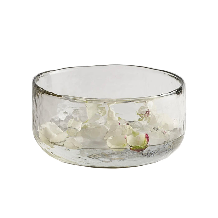 Large Pebbled Glass Bowl