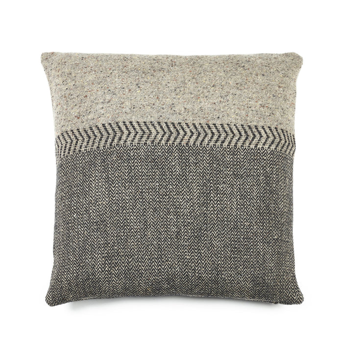 JULES BLACK HERRINGBONE PILLOW