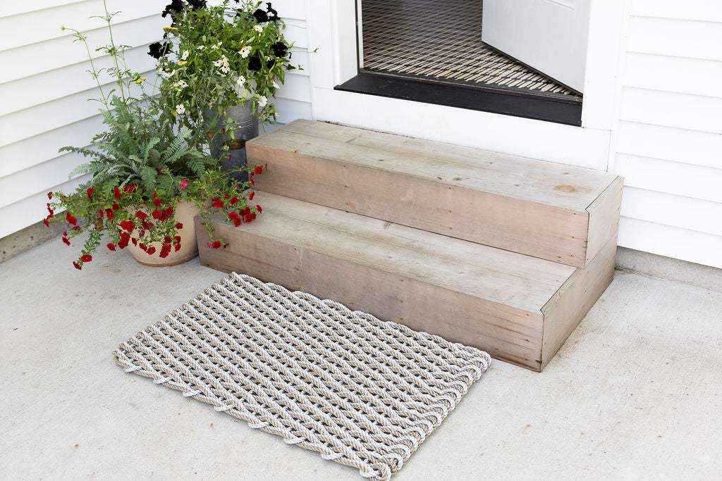 Light Grey and Sand Rope Doormat