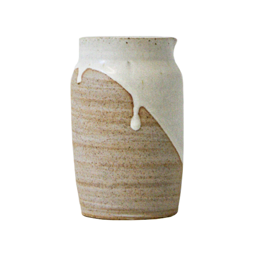 Hand-Thrown Marbled Drip Pitcher