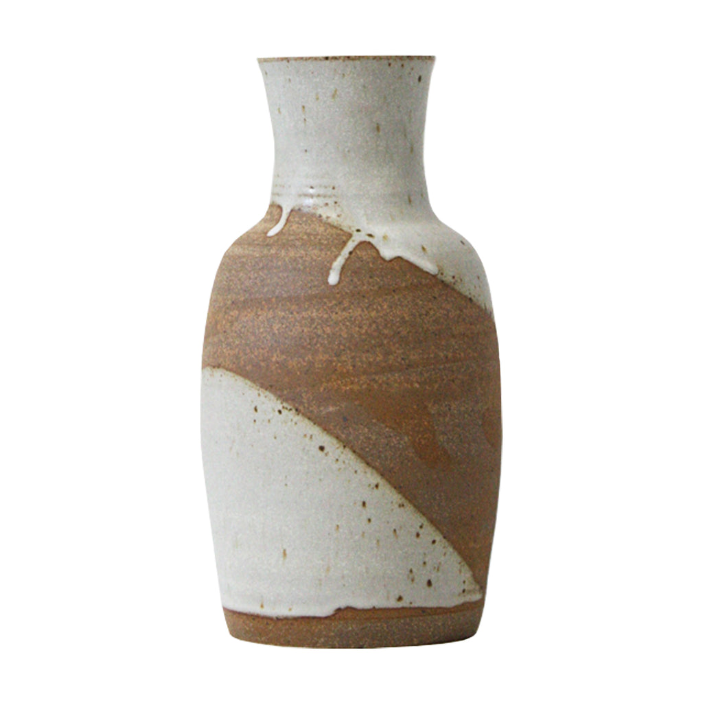 Hand-Thrown Marbled Drip Vase - Tall