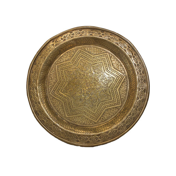 Vintage Brass Moroccan Tray