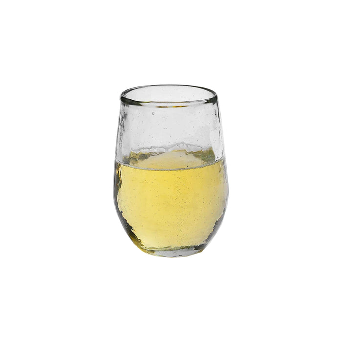 Pebbled Stemless Wine Glass