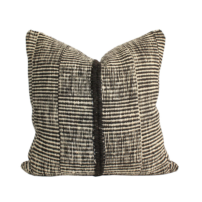 Makun Square Stripes Pillow - Black/White