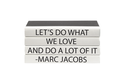 MARC JACOBS 4 VOLUME QUOTE BOOK STACK