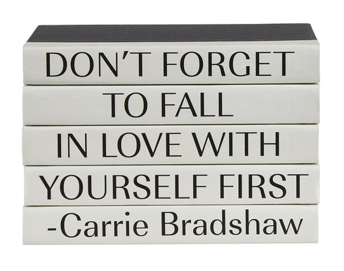 CARRIE BRADSHAW 5 VOLUME QUOTE BOOK STACK