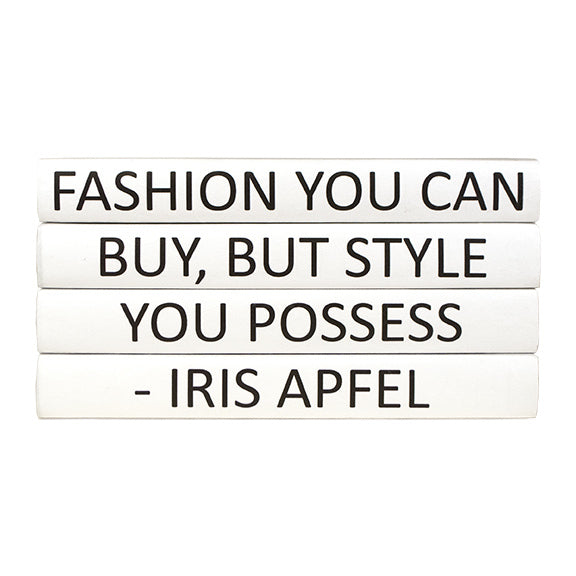 IRIS APFEL 4 VOLUME QUOTE BOOK STACK