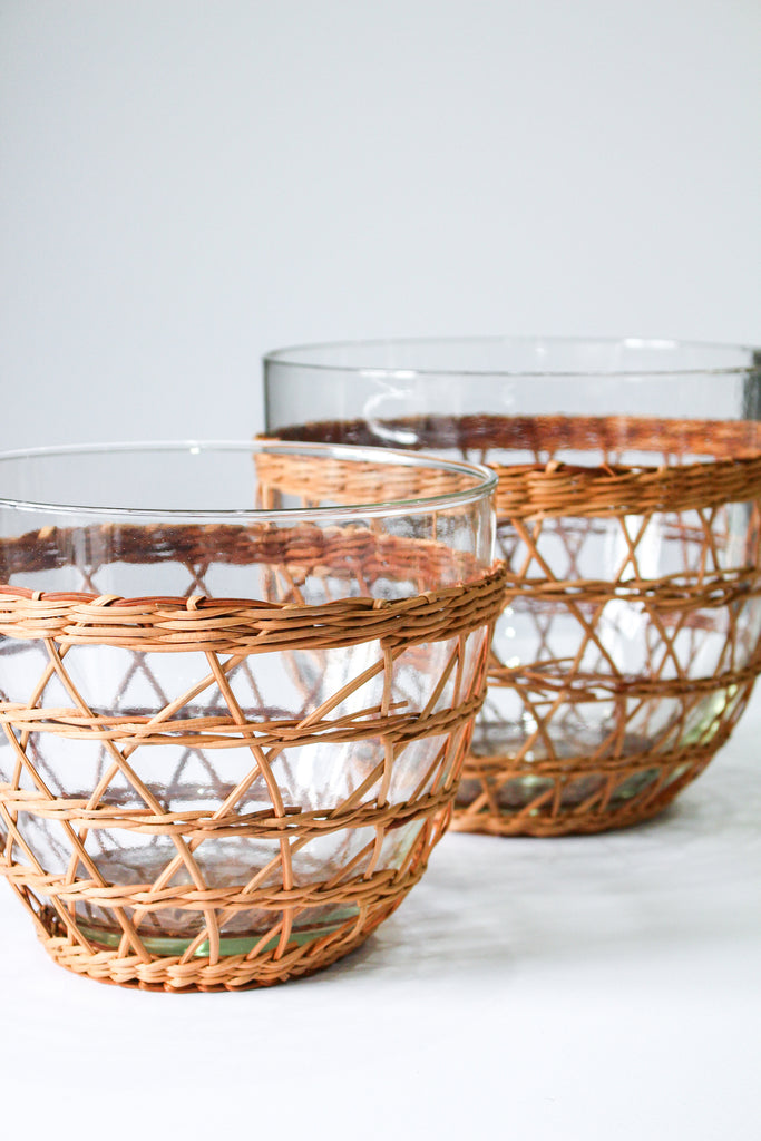 Rattan Salad Bowl - Medium