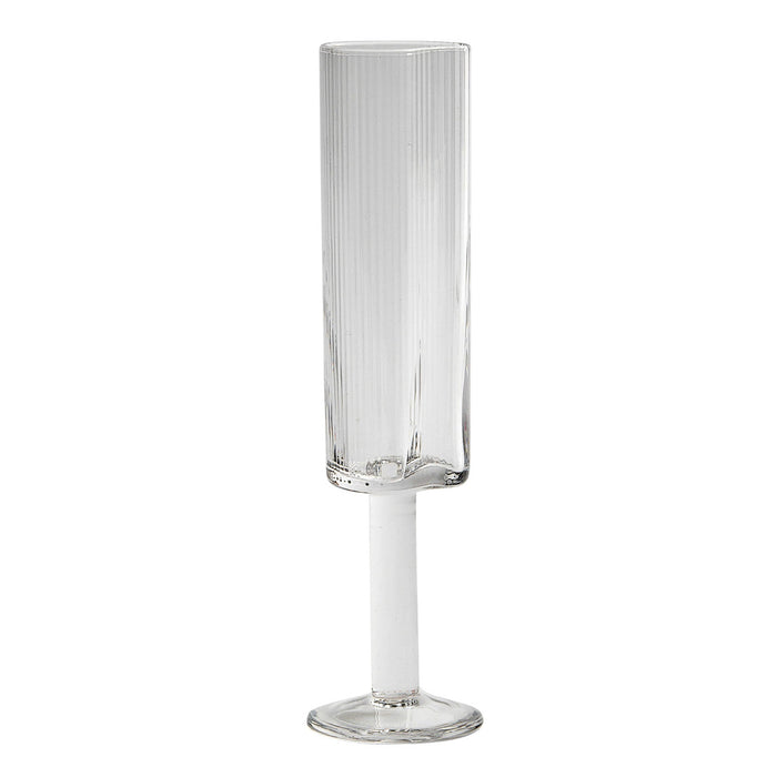 Reeded Champagne Glass