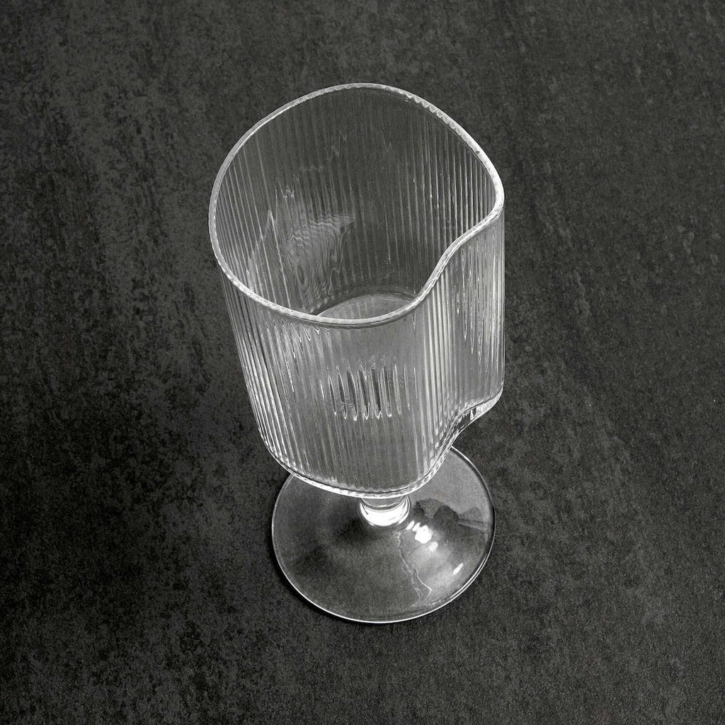 Reeded White Wine Glass