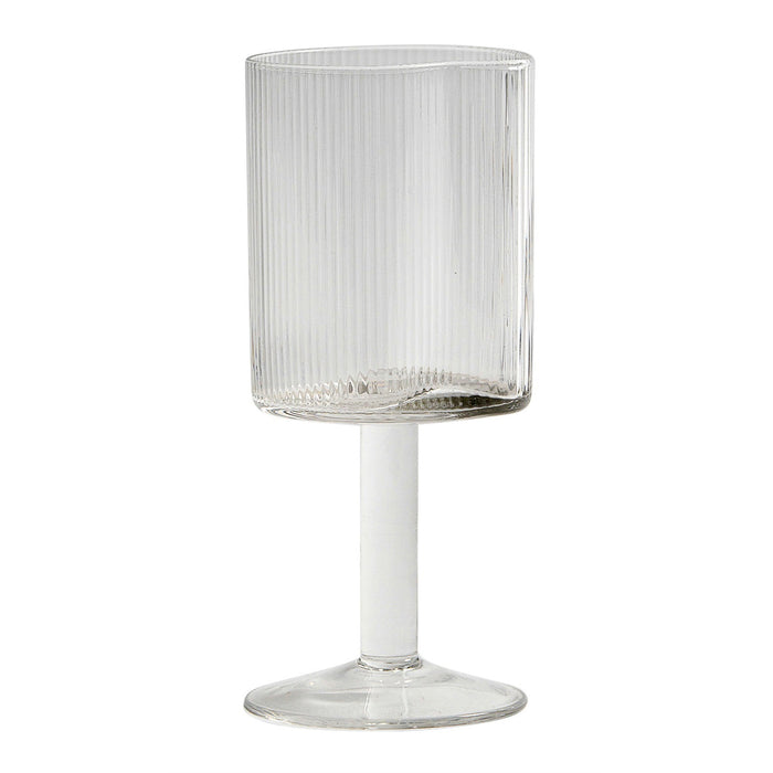Reeded Red Wine Glass