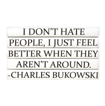 Charles Bukowski 5 Volume Quote Books