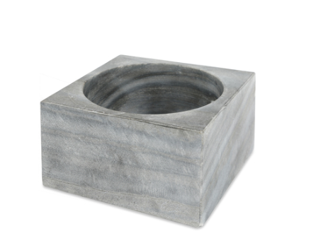 Gray Marble Modernist Bowl