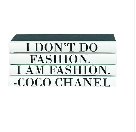 Coco Chanel 4 Volume Quote Book Stack