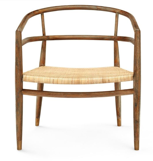 SCANDINAVIAN OCCASIONAL CANE CHAIR