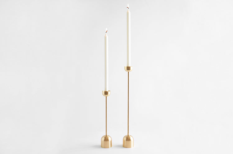 Brass Dome Candle Holder