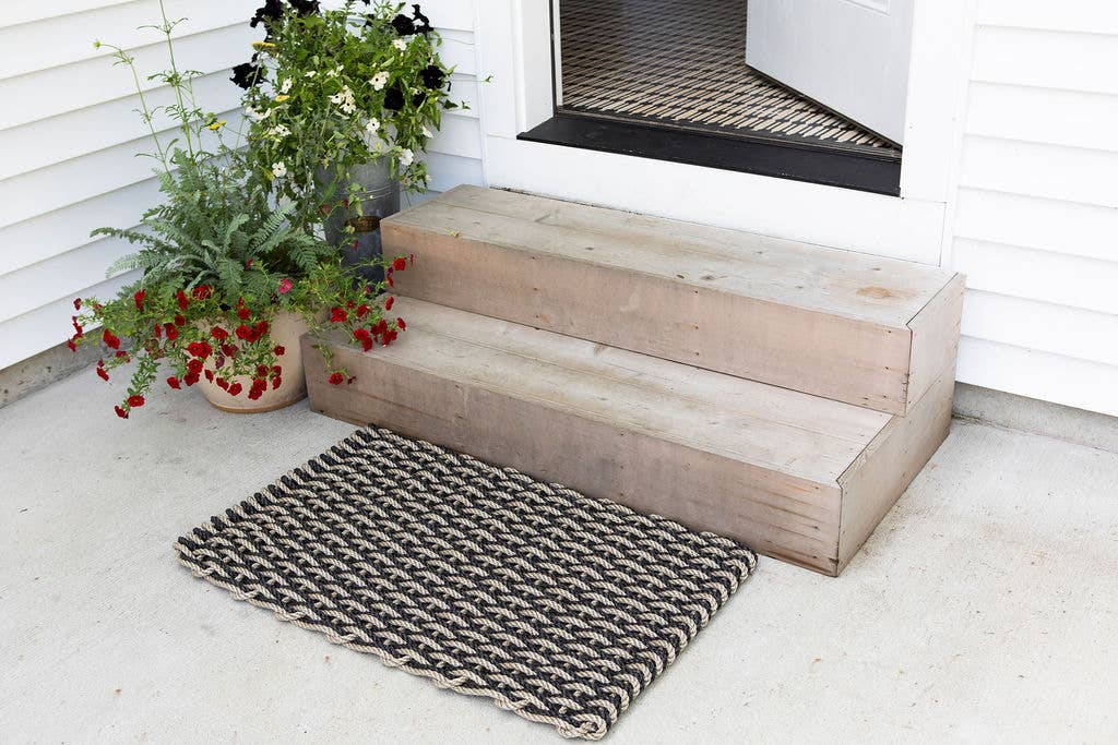 Tan and Grey Rope Doormat