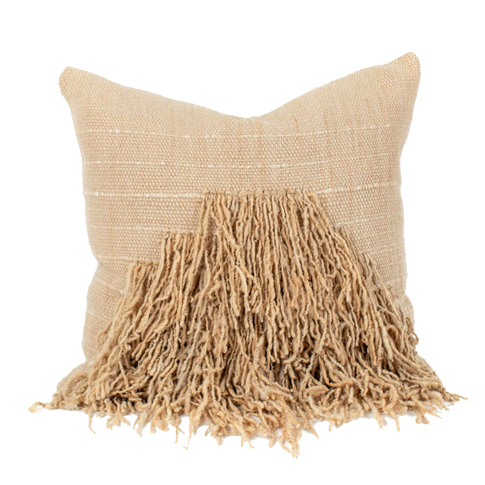 UNU Pillow - Oatmeal with Fringes