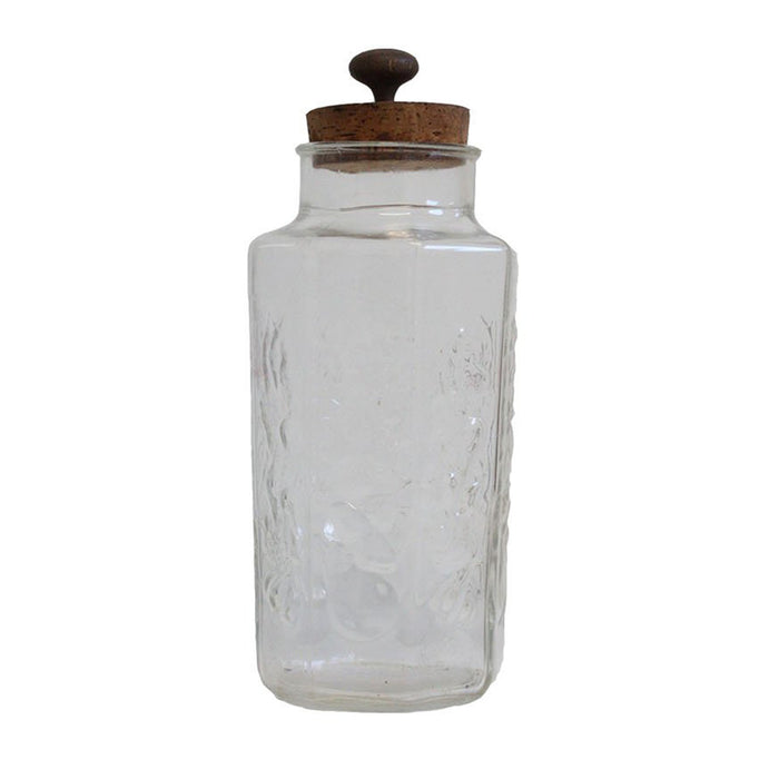 Vintage Corked Glass Jar