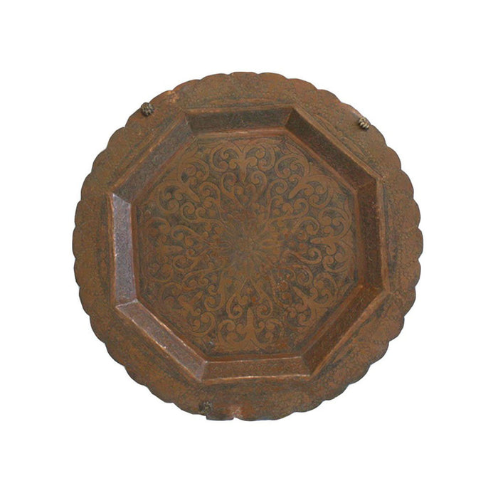Vintage Copper Moroccan Tray