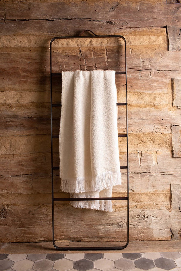 Winters Throw Blanket - Natural and White