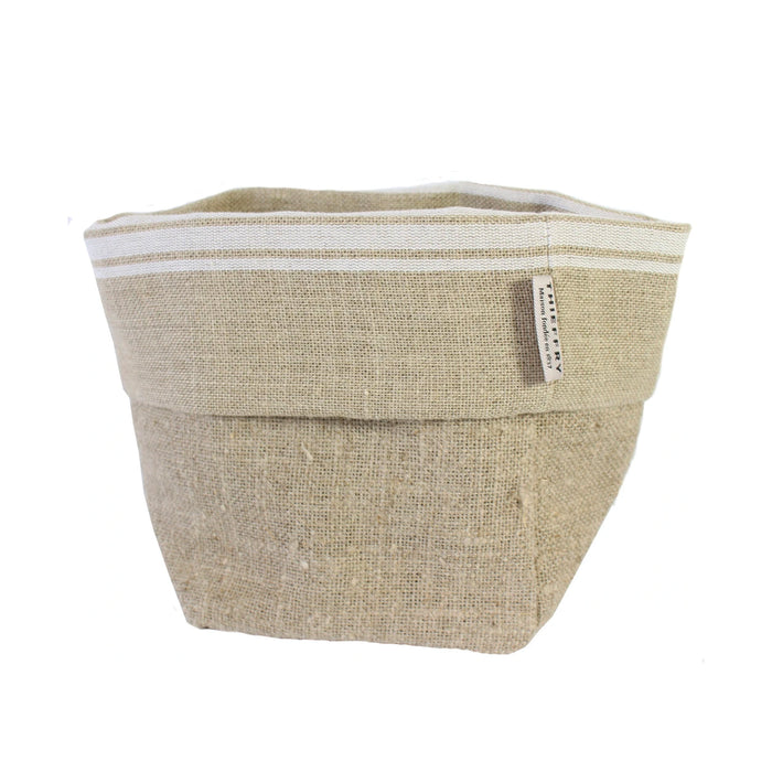 White Linen Bread Basket