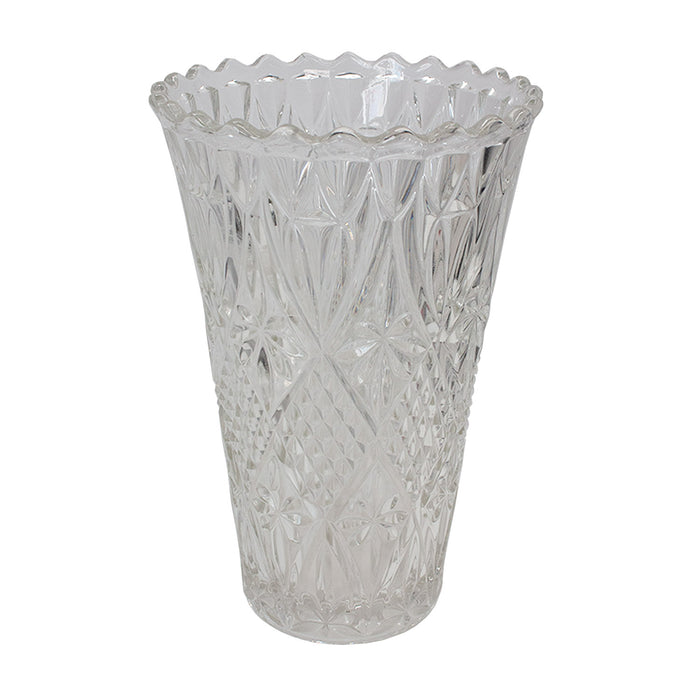 Vintage French Cut Glass Vase #2
