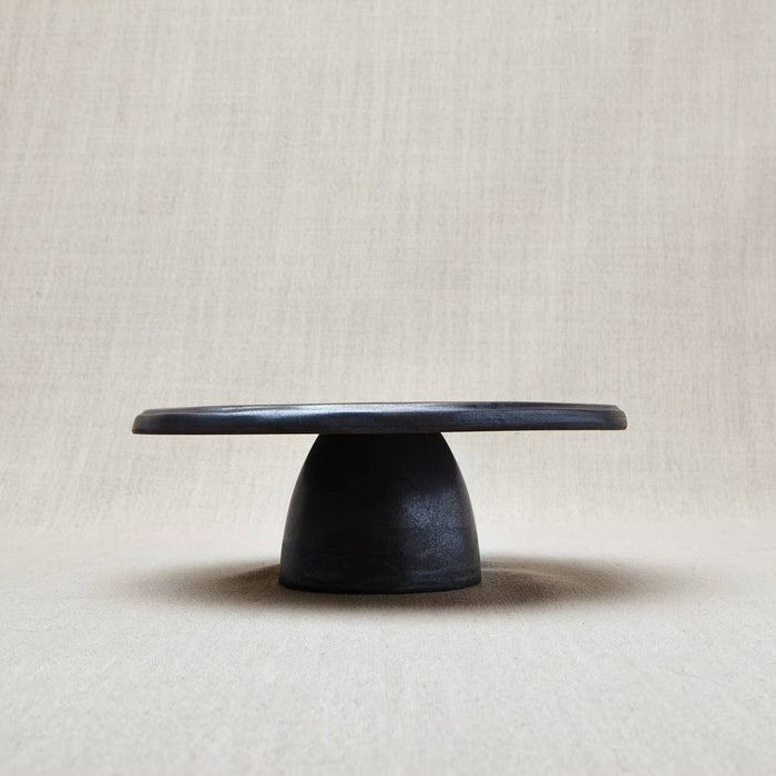 BLACK METALLIC CAKE STAND