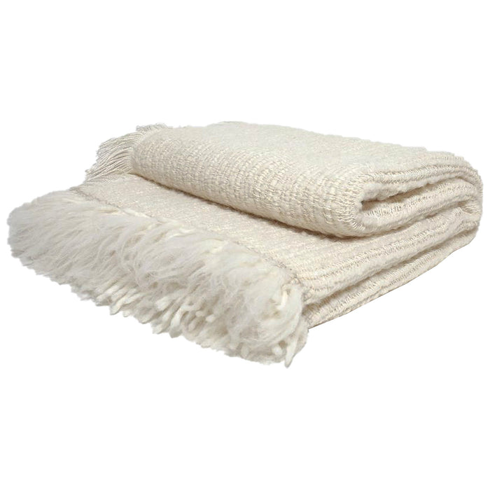 Bulloch Throw Blanket - Cream