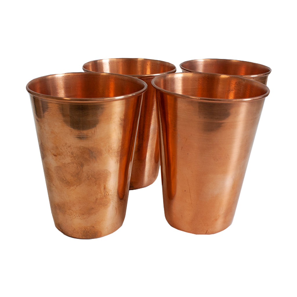 Set of 4 Copper Tumblers