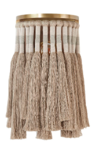 Staggered Linen Tassel Chandelier