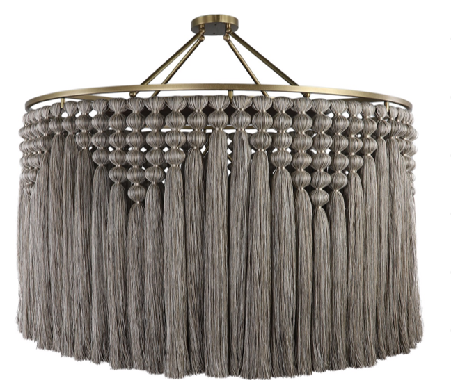 Diamond Linen Tassel Chandelier