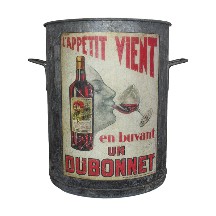 Antique French 'Dubonnet' Zinc Bucket