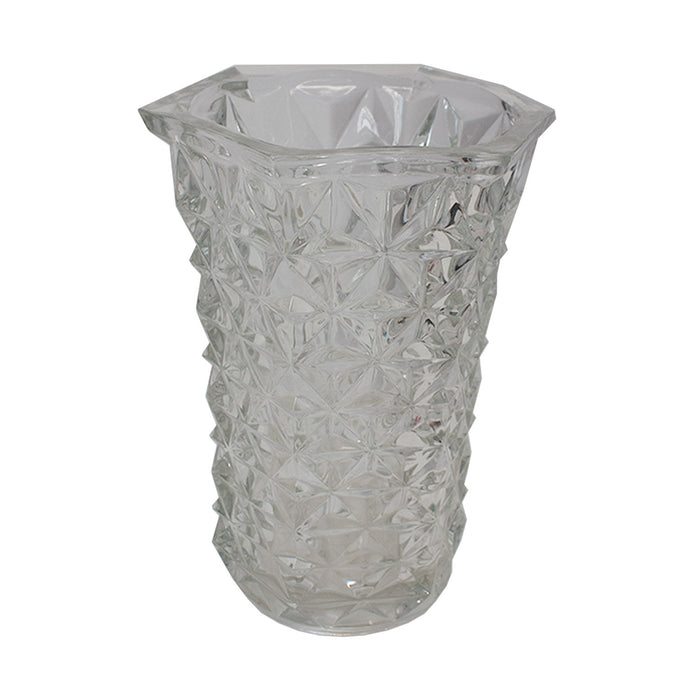 Vintage French Cut Glass Vase #6