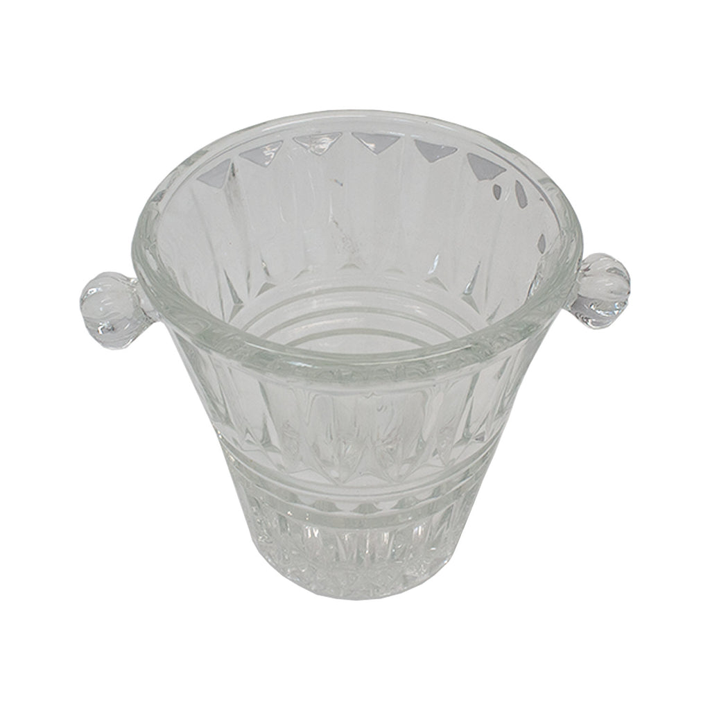 Vintage French Cut Glass Ice Bucket/Small