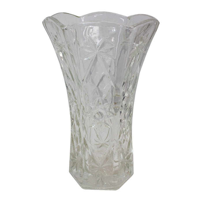 Vintage French Cut Glass Vase #4