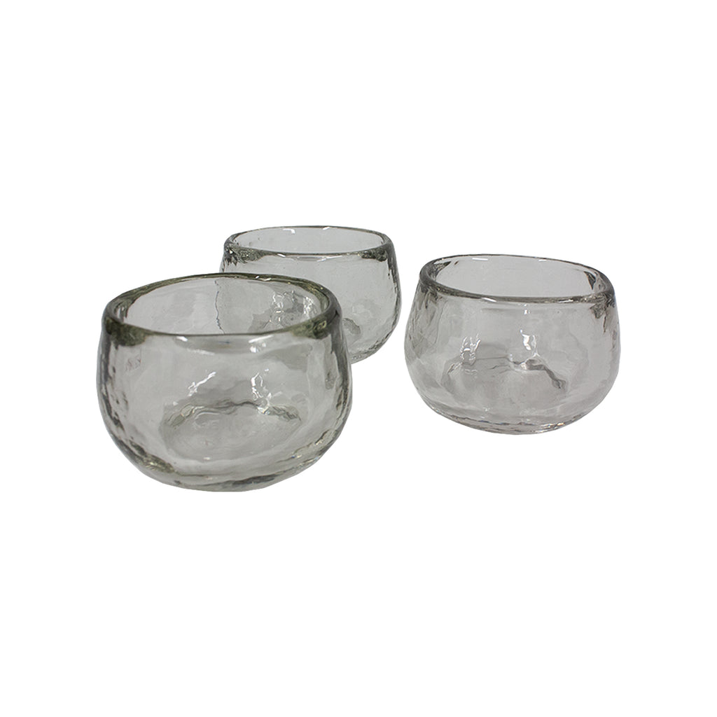 Pebbled Glass Condiment Bowl