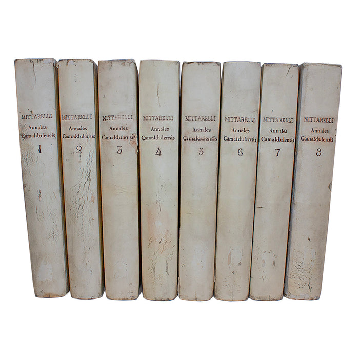 Vellum 8 Volume Book Set 1755